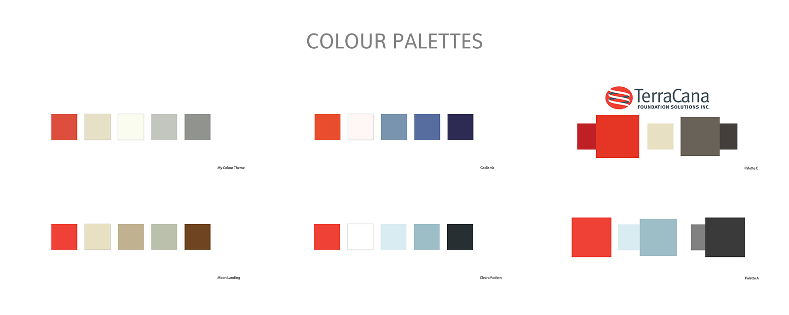 colour palette tests